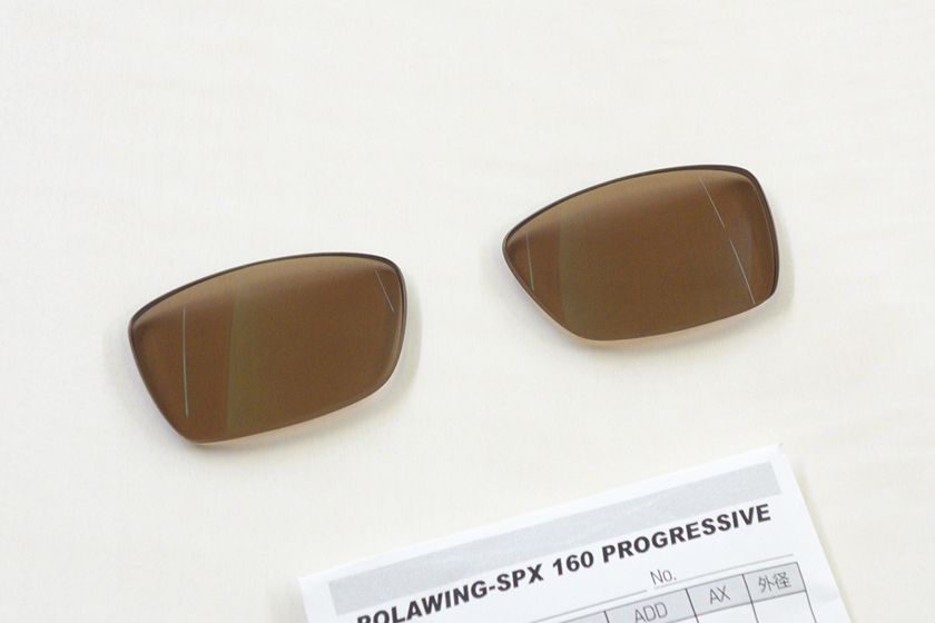 PolawingSPX:アクティブオレンジ + 偏光 遠近両用レンズ