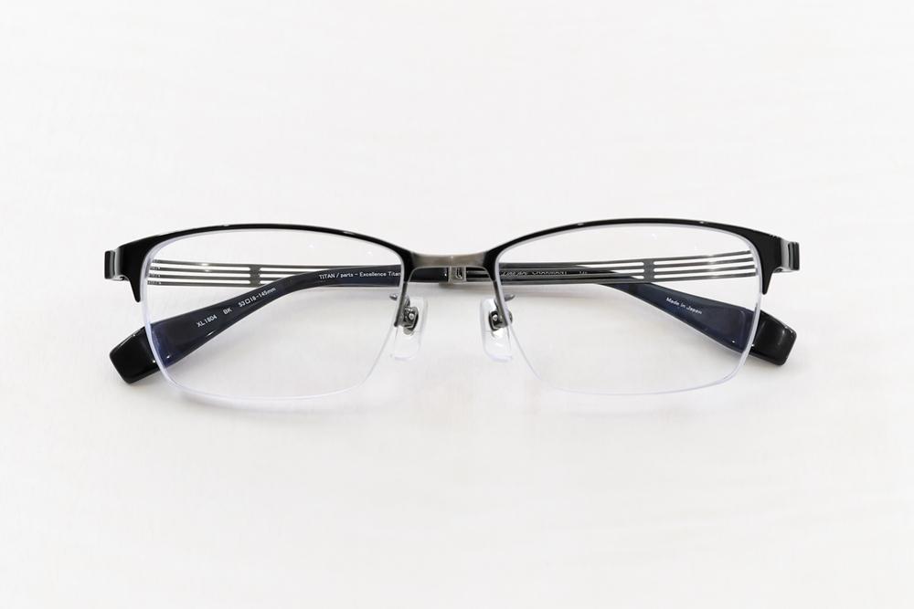 Line Art : XL1804 BK 《ラインアート》_ののむら眼鏡店_岐阜県郡上市のメガネ補聴器